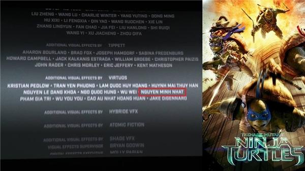 Ninja Rùa, một trong những bộ phim bom tấn mà Minh Nhật từng tham gia thực hiện.