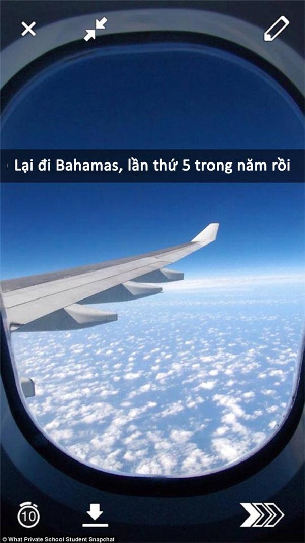 Có vẻ học sinh này đã chán đi Bahamas lắm rồi nhỉ?