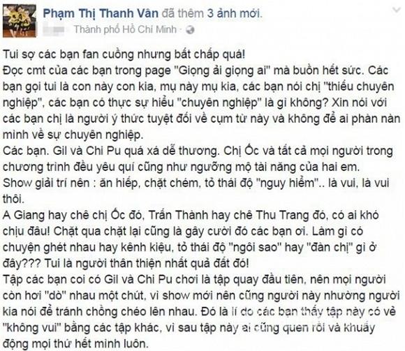 Phản ứng bất ngờ của Ốc Thanh Vân khi bị fans Chi Pu đả kích - Tin sao Viet - Tin tuc sao Viet - Scandal sao Viet - Tin tuc cua Sao - Tin cua Sao