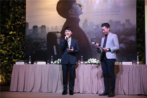 Hoàng Rob chia sẻ vềCD album mới của mình, thể loại âm nhạcchính được sử dụng trong CD lần nàylà World Music, Pop, có hơi hướng EDM ở một vài ca khúc. Đây là sự thể nghiệm táo bạo mới không chỉ ở Việt Nam mà còn cả trên thế Giới.