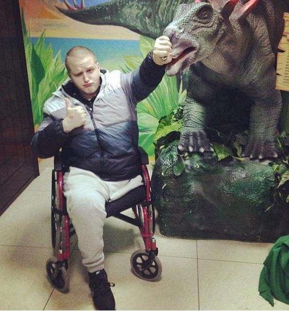 Sergeytràn đầy sức sống dù đã mất đi một chân.