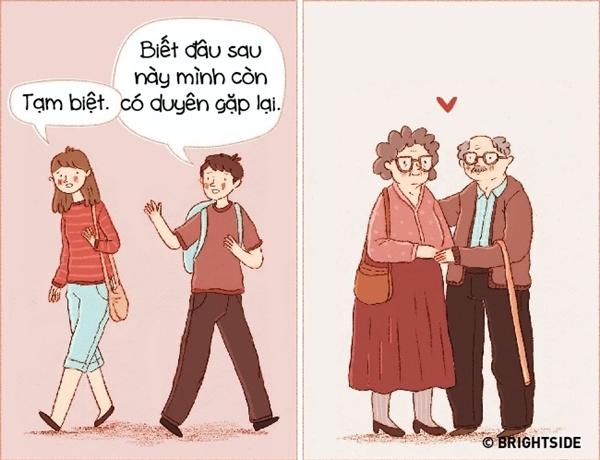 Khi đam mê lụi tàn, hai bạn nói lời chia tay cũng rất dễ dàng. Còn khi đã yêu, hai bạn sẽ mơ ước sống với nhau trọn đời.