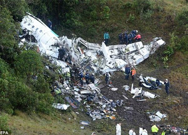 Hiện trường vụ tai nạn máy bay. (Ảnh: Internet)