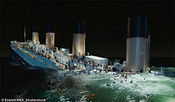 Cảnh phim tàu Titanic chìm xuống Đại Tây Dương và cảm giác kinh hoàng này sẽ được tái hiện sống động sau khi dự án này hoàn thành.