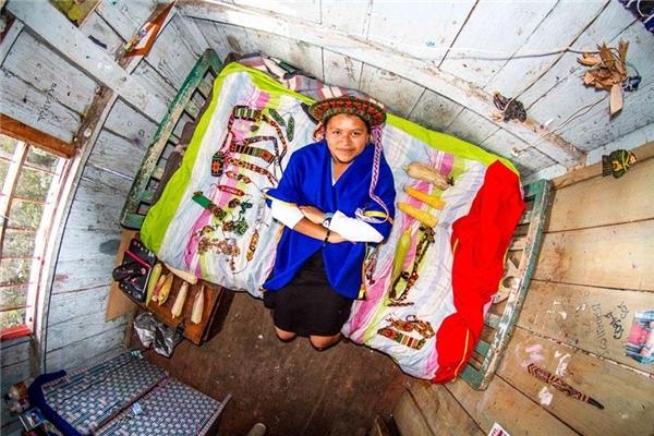 Marixa, 21 tuổi,giáo viên,Sibundoy, Colombia.