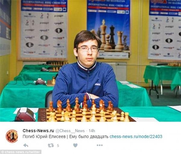 Kiện tướng cờ vua Yuri Eliseev. (Ảnh: Twitter)