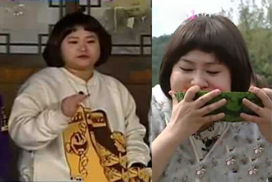 """Từng chia sẻ """"Bạn của tôi và tôi đã ăn 62 phần thịt lợn"""", và trong các chương trình thức tế lúc nào cũng thấy ăn và ăn, chẳng trách tại sao danh hài Kim Shin Young lại sở hữu thân hình tròn trịa đáng yêu đến vậy."""