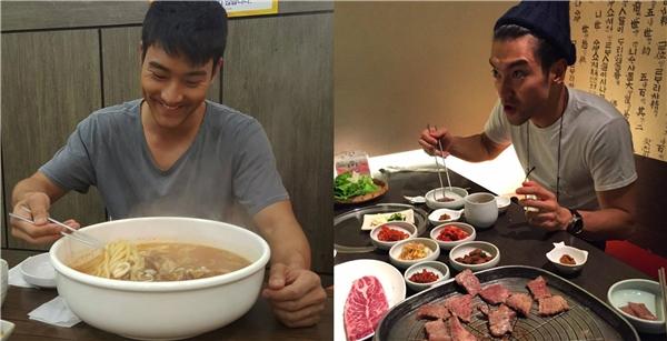 """""""Một cái pizza cũng chỉ như bánh sandwich. Tôi có thể ăn 7 cái hamburgers"""", Choi Siwon chắc hẳn là """"thực thần"""" hàng đầu showbiz Hàn Quốc."""