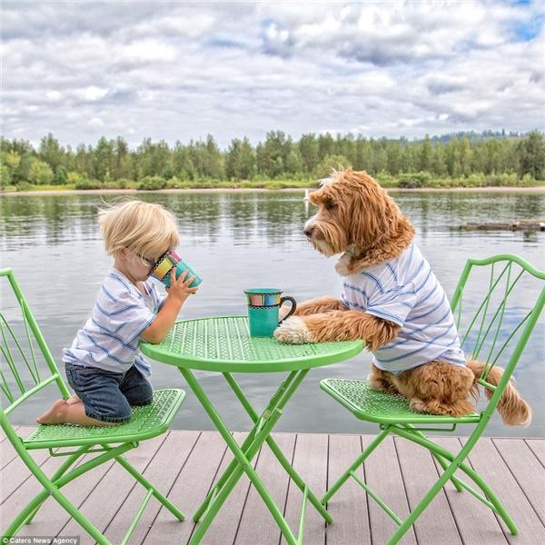Sau đó, họ tiếp tục nhận nuôi chú chó vàng 11 tháng tuổi, đặt tên là Buddy.