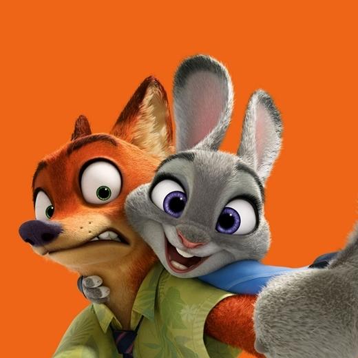 Chàng Cáo Nick và cô Thỏ Judy.