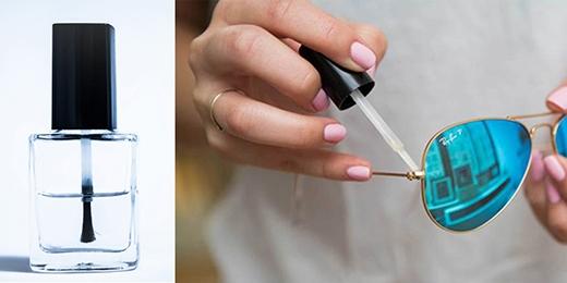 Sơn bóng là một trong những vật dụng không thể thiếu cho những bộ móng tay đẹp của các côgái. Thế nhưng, sơn bóng lại là liệu pháp thần kỳ để gia cố cho mắt kính của bạn hay bất cứ khuy nút nào chỉ bằng … vài đường nước sơn thôi!