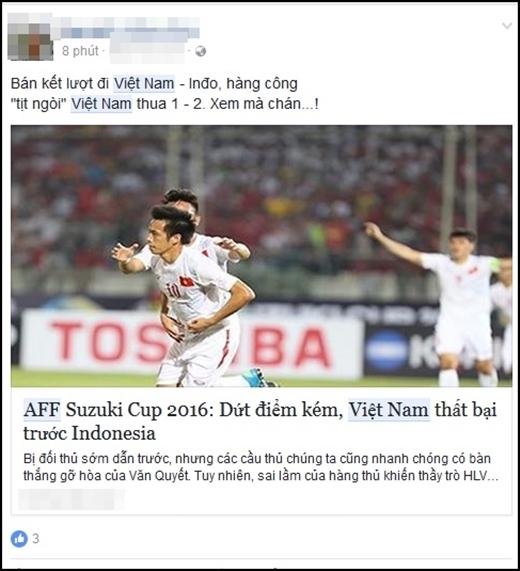 Người hâm mộ tiếc nuối thất bại sát nút của Việt Nam trước Indonesia