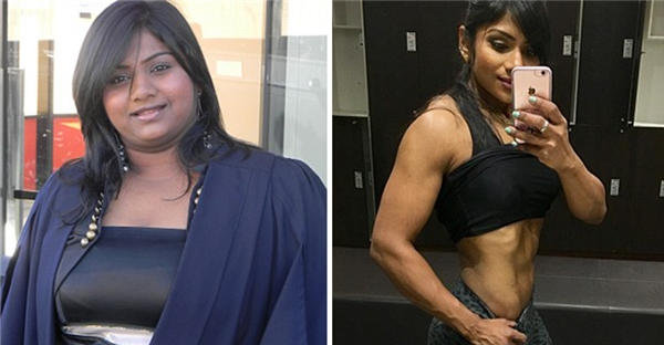 Bị mạng xã hội chê béo ú, cô gái 107kg thành mỹ nhân 64kg