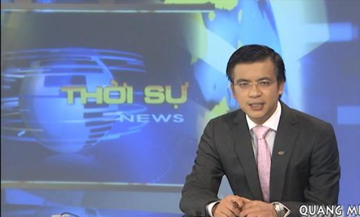 BTV Quang Minhlà gương mặt quen thuộc với khán giả truyền hình với vai trò người dẫn chương trình bản tin thời sự 19h của VTV.