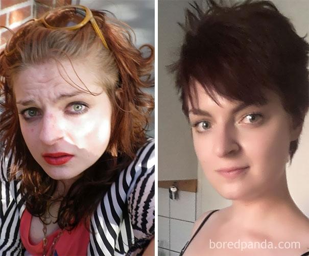 Thậm chí cả ánh mắt và thần thái trênkhuôn mặt của cô gái nàycũng thay đổi rất nhiều sau 14 tháng dừng uống rượu.