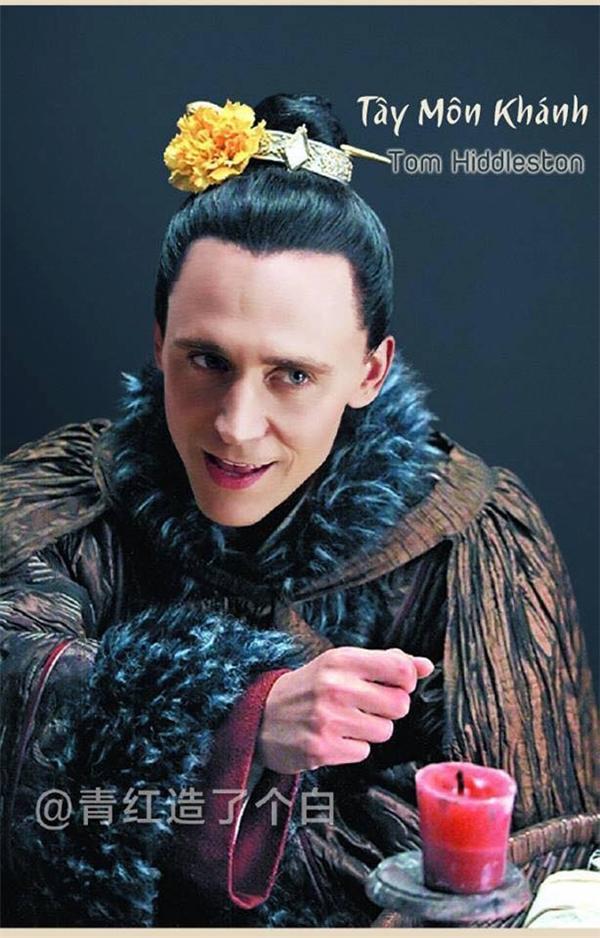 """Vẻ mặt gian xảo, hiểm ác nhưng cũng không kém phần quyến rũ, hào hoa của """"Loki"""" Tom Hiddleston có thể nói là được sinh ra để nhập vai Tây Môn Khánh xấu xa, mê gái đến nỗi đi dụ dỗ vợ người khác."""