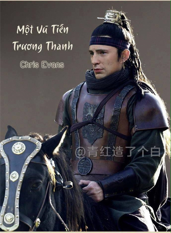 """Anh chàng vốn nổi tiếng """"chính nghĩa một cây"""" Chris Evans này quả thực không thể hợp hơn với vai Trương Thanh."""