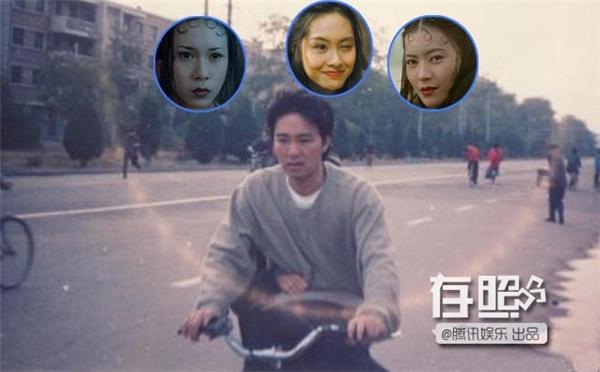 Bức ảnh chụp được có một người đang ngồi sau xe đạp và ôm eo của Châu Tinh Trì.