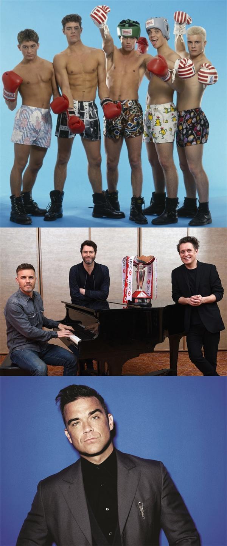 Take That: Tháng 07/1995, Robbie Williams rời nhóm và phát hành album solo, Take That cũng vì thế màtan rã khi đang trên đỉnh cao danh vọng. Nhiều năm sau, các thành viên còn lại tái hợp và ra mắt album mới. Tháng 11/2010, nhóm ra mắt album mới với đầy đủ 5 thành viên.