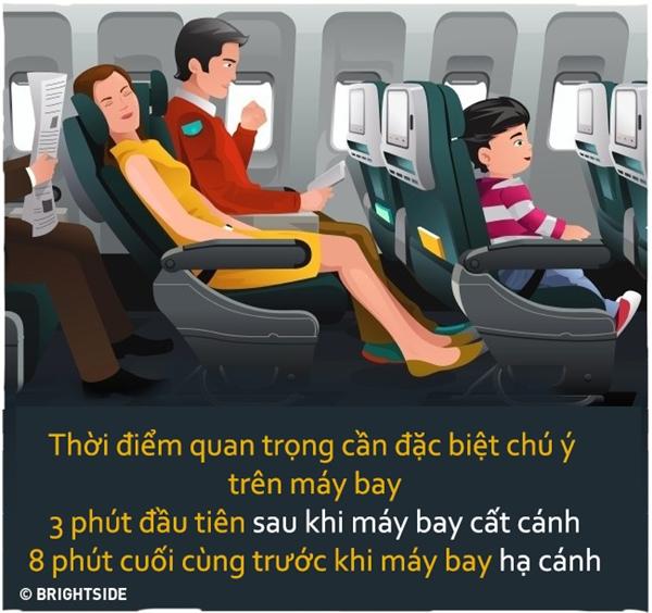 Trước khi máy bay cất cánh cũng như hạ cánh, hãytập trung ghi nhớ những điều nên làm trong tình huống khẩn cấp.