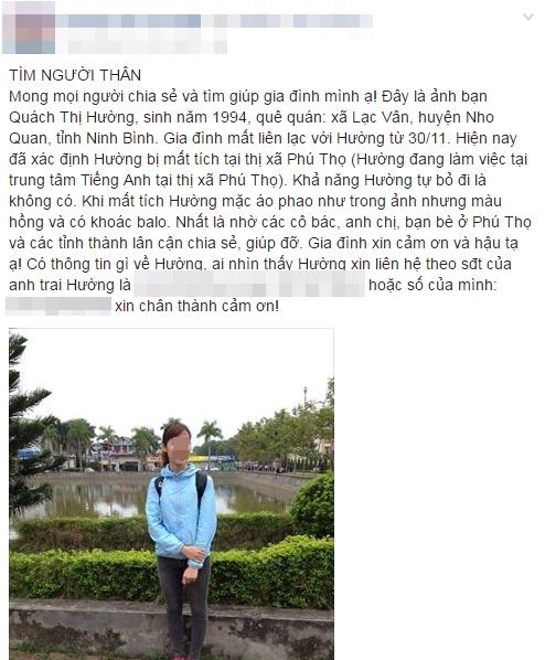 Dân mạng nghi ngờ nữ sinh viên Đại học Sư Phạm mất tích bị bắt cóc
