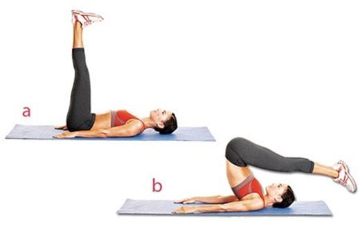 """Động tác """"30-60-90"""" và """"90-60-30"""" độ sẽ giúp săn chắc phần cơ bụng và chân"""