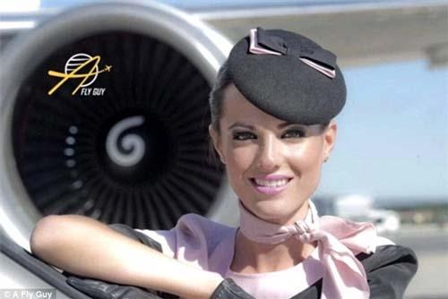 Vẻ đẹp giản dị nhưng không kém phần cuốn của tiếp viên hàng không Tây Ban Nha.