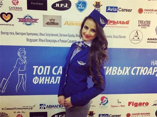 Không thể cưỡng lại vẻ đẹp quyến rũ cuốn hút của nữ tiếp viên hàng không Nga.