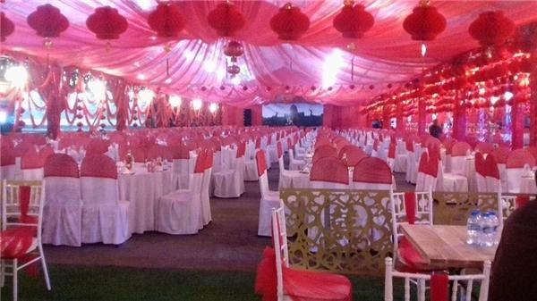 Rạp cưới được trang hoàng với diện tích 3.000m2.(Ảnh: Internet)