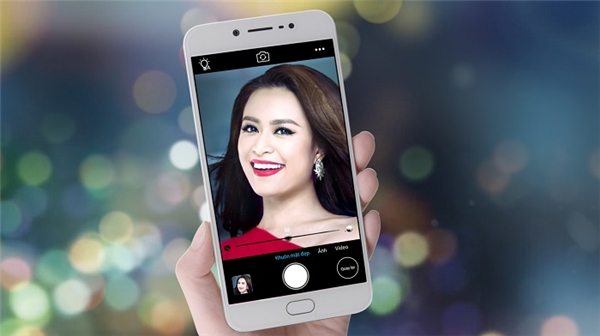 """Hoàng Thùy Linh khoe vẻ đẹp không tì vết khi sử dụng camera trước 20MP cùng """"hiệu ứng ánh trăng"""" (moonlight selfie) của Vivo V5. - Tin sao Viet - Tin tuc sao Viet - Scandal sao Viet - Tin tuc cua Sao - Tin cua Sao"""