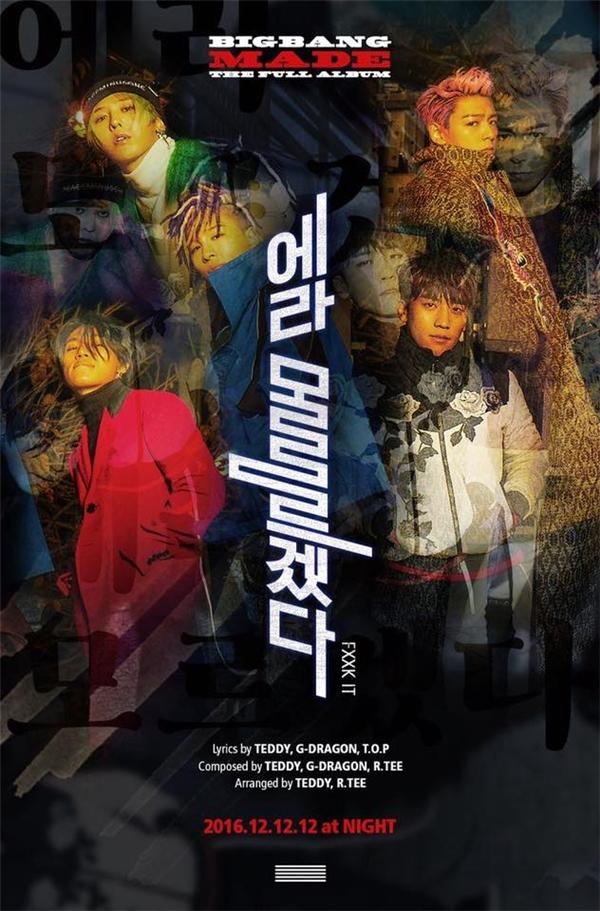"""Big Bang xuất hiện với phong cách """"chất lừ"""" quen thuộc trong poster vừa được công bố."""