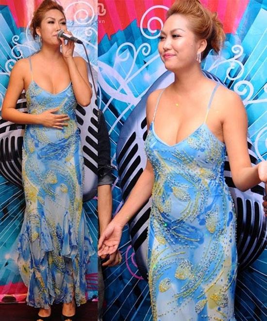 Phi Thanh Vân và chiếc váy mang đúng tính chất váy ngủ khiến cô trông luộm thuộm.