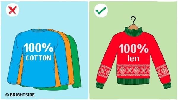 Những người đổ nhiều mồ hôi nên mặc áo len để giữa ấm.
