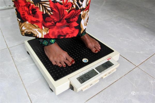 Cân nặng hiện tại của Baghili là 15,1 kg.