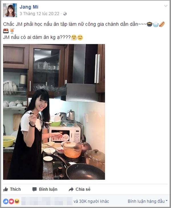 Jang Mi khoe ảnh trổ tài nấu nướng khiến người hâm mộ thích thú. - Tin sao Viet - Tin tuc sao Viet - Scandal sao Viet - Tin tuc cua Sao - Tin cua Sao