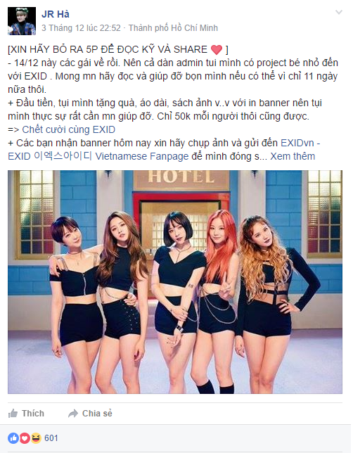 Không chỉ chia sẻ thông tin về chương trình, các fan còn kêu gọi đóng góp để mua quà cho 5 cô gái.
