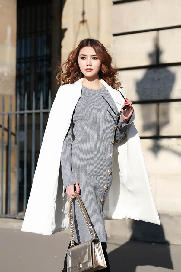 Ngọc Duyên mặc đẹp sang chảnh giữa lòng thủ đô Paris