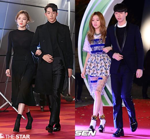 Lee Sung Kyung và Nam Joo Hyuk sánh bước với nhau trong khá nhiều sự kiện lớn như thảm đỏMelOn Music Awards 2014,OnStyle Style Icon Awards 2014...