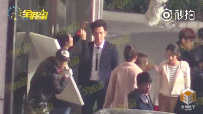 Chung Hán Lương tại phim trường.