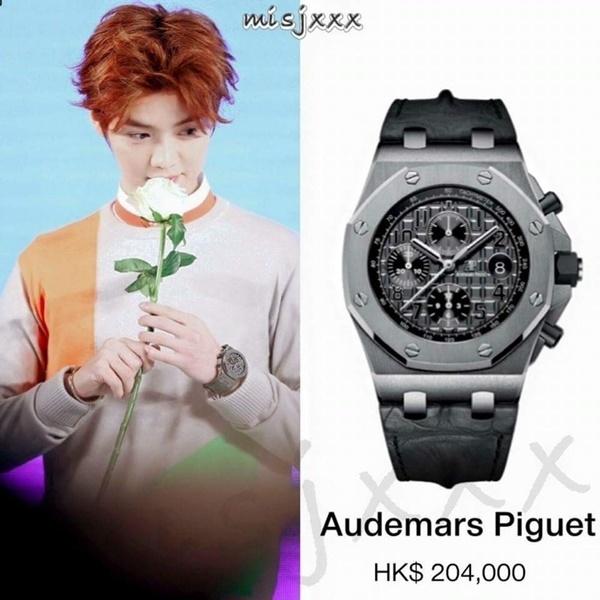 """Bộ sưu tập đồng hồ """"cực khủng"""" của Lộc Hàm."""