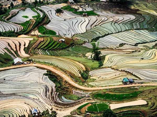 Nước ngập mang lại một bức tranh đầy màu sắc trên cánh đồng lúa ở Ý Tý, Bát Xát, Lào Cai. Mùa mưa thường kéo dài từ tháng 5 đến tháng 6 ở ngôi làng miền núi này. Ảnh đăng ngày 14/8. Ảnh: Phero Art.