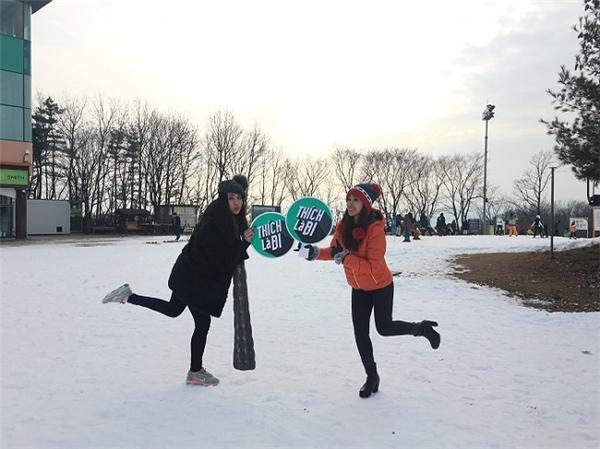 Thích là đi, nên từ chơi đùa trên tuyết…