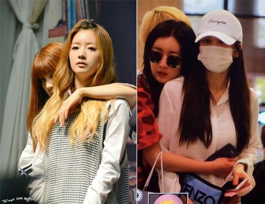 Dường như Bomi và Chorong (A Pink) chẳng thể nào rời tay khỏi nhau cả.