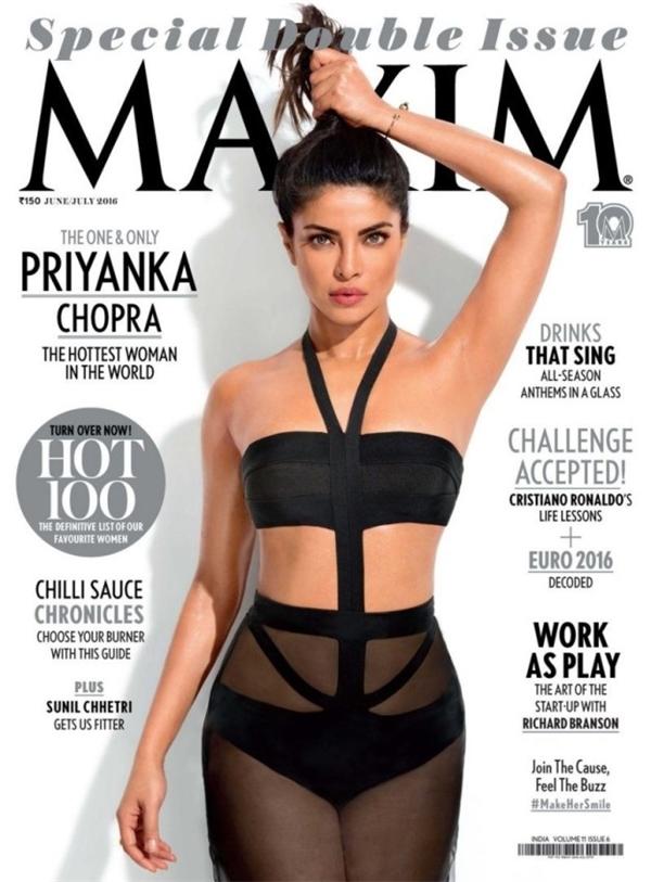 Khá nhiều người đã chỉ trích tờ Maxim khi cho rằng tạp chí này đã photoshop quá đà phần nách của Priyanka Chopra trên bìa số tháng 7.