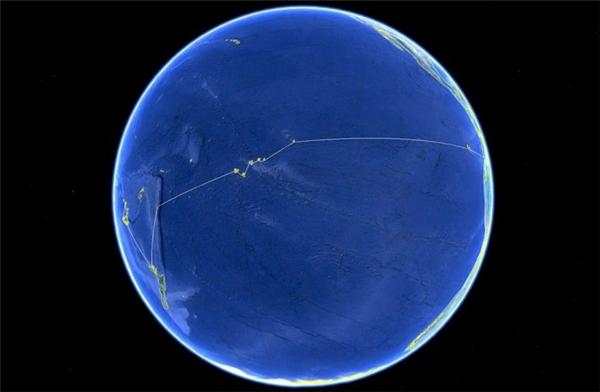 Đây chính là hình ảnh Trái Đất chụp từ không gian, và những gì bạn nhìn thấy trong ảnh là toàn bộ Thái Bình Dương.