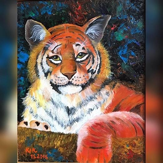 """BTV thường xuyên đăng lên cá nhânnhững bức tranh của các họa sĩ nổi tiếng và nhiều tác phẩm do chính mình làm """"họa sĩ""""."""