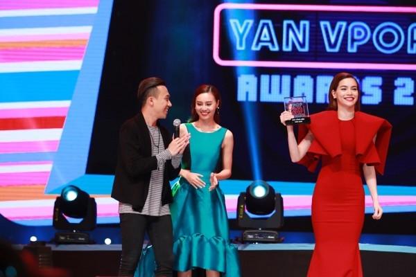 Hồ Ngọc Hàrạng rỡ khi nhận giải thưởng tại YAN Vpop 20 Awards 2015. - Tin sao Viet - Tin tuc sao Viet - Scandal sao Viet - Tin tuc cua Sao - Tin cua Sao