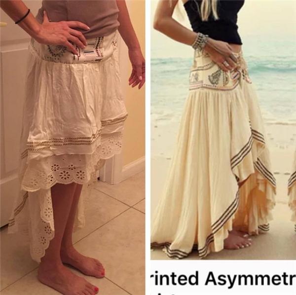Cái váy này tiện dụng hơn cái váy mẫu ở chỗ khi đi ngoài đường bạn không phải túm nó lên vì sợ quệt phải đất nhé.