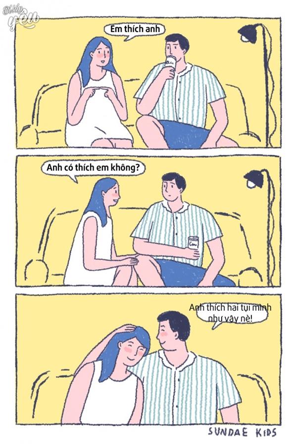 Tình yêu sẽ vui lắm nếu như ai cũng yêu như thế này!
