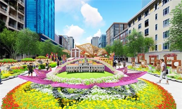 Đường hoa Nguyễn Huệ - một trong những điểm nhấnchào xuân.